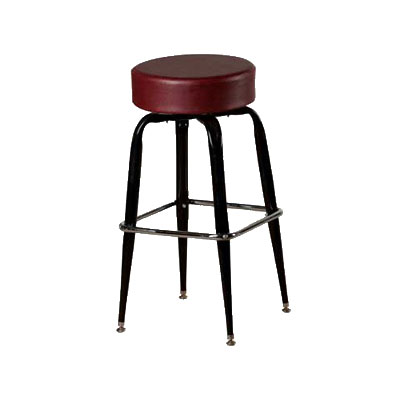 Oak Street SL2135-WINE Swivel Bar Stool w/ Single Chrome Ring & Wine Button Top Seat