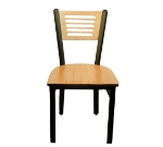 Oak Street SL2150-5 Dining Chair w/ 5-Line Solid Birch Back & Black Powder Frame