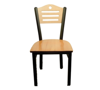 Oak Street SL2150-SH Dining Chair w/ Shoreline Solid Birch Back & Black Powder Frame