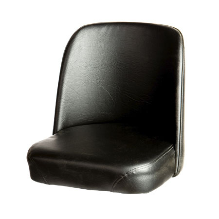 Oak Street SL3133TOP-BLK Replacement Bar Stool Vinyl Foam Bucket Seat, Black