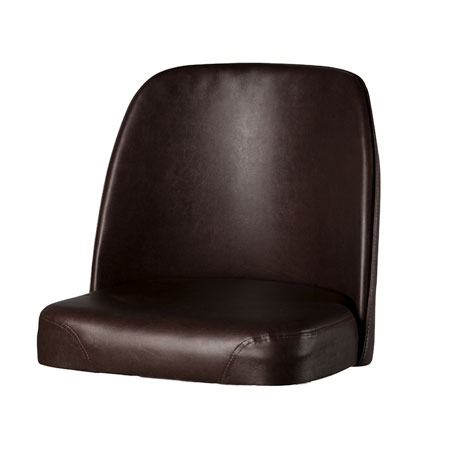 Oak Street SL3133TOP-ESP Replacement Bar Stool Vinyl Foam Bucket Seat, Espresso