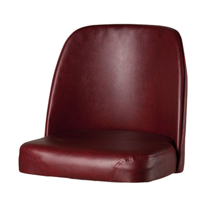 Oak Street SL3133TOP-WINE Replacement Bar Stool Vinyl Foam Bucket Seat, Wine