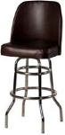 Oak Street SL3134-ESP Swivel Bar Stool w/ Double Ring & Espresso Vinyl Foam Bucket Seat