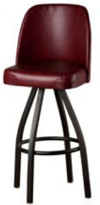 Oak Street SL3136-WINE Swivel Bar Stool w/ Single Ring & Wine Vinyl Foam Bucket Seat