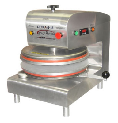 DoughXpress D-TXA-2-18-WH Automatic Tortilla Pizza Dough Press w/ Uncoated Platens, 220 V