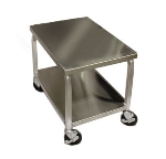 DoughXpress DXC3 Dough Press Cart, 4-Swivel Wheels, 16-ga Stainless Top & Shelf