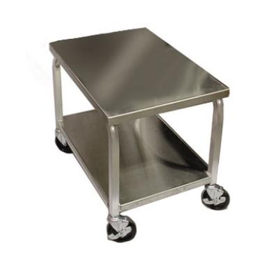 Doughxpress DXC3 Dough Press Cart, 4-Swivel Wheels, 16-ga Stainless Top & Shelf
