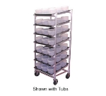 DoughXpress DXDC-5NT Dough Ball Storage Cart, Trays & Center Ribs, Holds (63) 2-qt Tubs