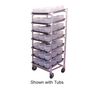 DoughXpress DXDC5NT Dough Ball Storage Cart, Trays & Center Ribs, Holds (63) 2-qt Tubs