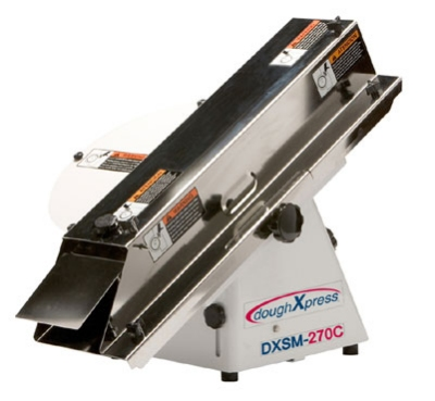 Doughxpress DXSM-270CE Compact Adjustable French Bread Slicer For Full & Hinge Cut, 220-240/1