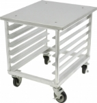 "DoughXpress TXC-3 28"" x 28"" Stationary Equipment Stand for Tortilla Press, Pan Slides"