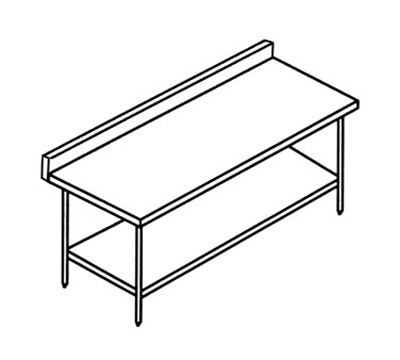 Select Stainless 10SUB30 Work Table w/ 5-in Backsplash & Undershelf, 30x120-in, Stainless
