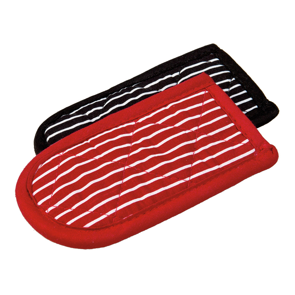 Lodge 2HH2 Hot Handle Mitt Set w/ Black White & Red White Stripe