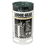 "Lodge A5-1 6.5"" Round Camp Charcoal Chimney Starter w/ Wooden Handle"