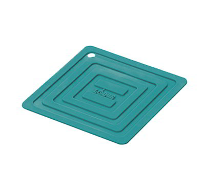 "Lodge AS6S39 5-7/8"" Square Silicone Pot Holder - Turquoise"