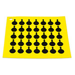 "Lodge AS7S21 Silicone Square Trivet w/ Black Logo Skillets, 7x7"", Yellow"