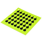 "Lodge AS7S51 Silicone Square Trivet w/ Black Logo Skillets, 7x7"", Green"