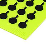 "Lodge AS7S51 Silicone Square Trivet w/ Black Logo Skillets, 7x7"", Green"