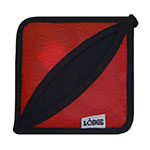 "Lodge ASFPH41 6.5"" Square Pot Holder - Silicone, Red"