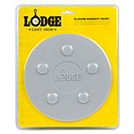 "Lodge ASLMT05 8"" Round Magnetic Trivet - Silicone, Gray"