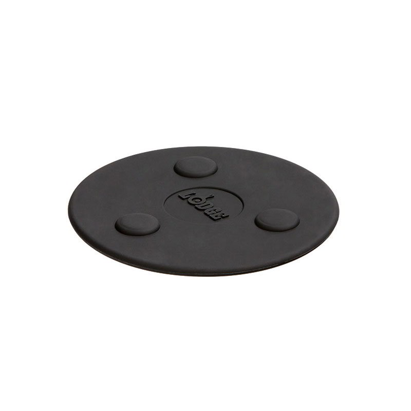 "Lodge ASMMT 5.75"" Magnetic Trivet, Heat Resistant to 450°F, Silicone"