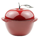 Lodge E3AP40 3.5-qt L Series Apple Pot, Cast Iron, Enamel, Patriot Red