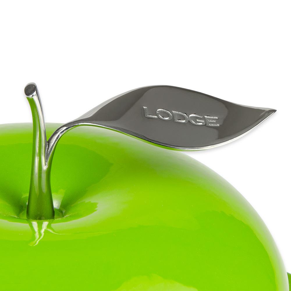 Lodge E3AP50 3-qt L Series Apple Pot, Cast Iron, Enamel, Apple Green