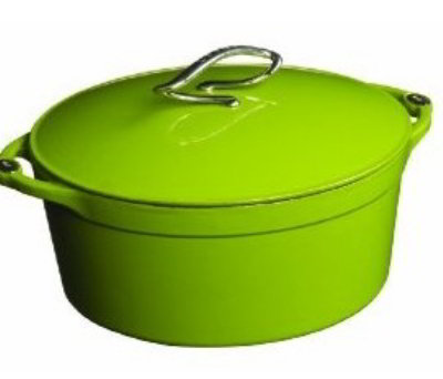 Lodge E4D50 4-qt Cast Iron Dutch Oven, Enamel, Apple Green