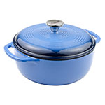 Lodge EC4D33 4.5-qt Cast Iron Dutch Oven, Enamel, Caribbean