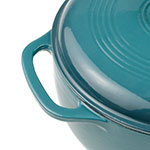 Lodge EC6D38 6-qt Cast Iron Dutch Oven, Enamel, Lagoon