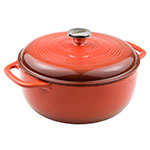 Lodge EC6D68 6-qt Cast Iron Dutch Oven, Enamel, Poppy