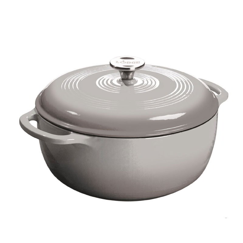 Lodge EC6D05 6-qt Cast Iron Dutch Oven, Enamel, Gray