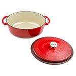 Lodge EC70D43 7-qt Cast Iron Dutch Oven, Enamel, Red