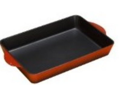 Lodge ECR43 Cast Iron Enamel Color Roaster, 4.25 Quarts, Island Spice Red