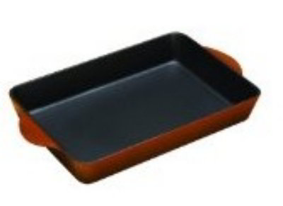 Lodge ECR83 Cast Iron Enamel Color Roaster, 4.25 Quarts, Cafe Brown