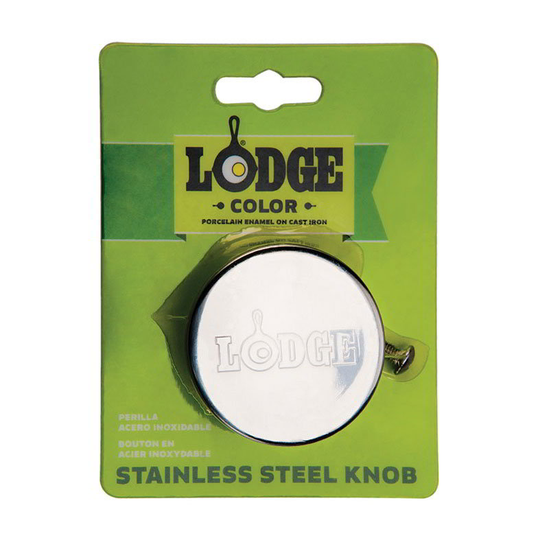 "Lodge ECSSK 2"" Stainless Knob for Enamel Cover, Oven Safe to 450-Degree F"