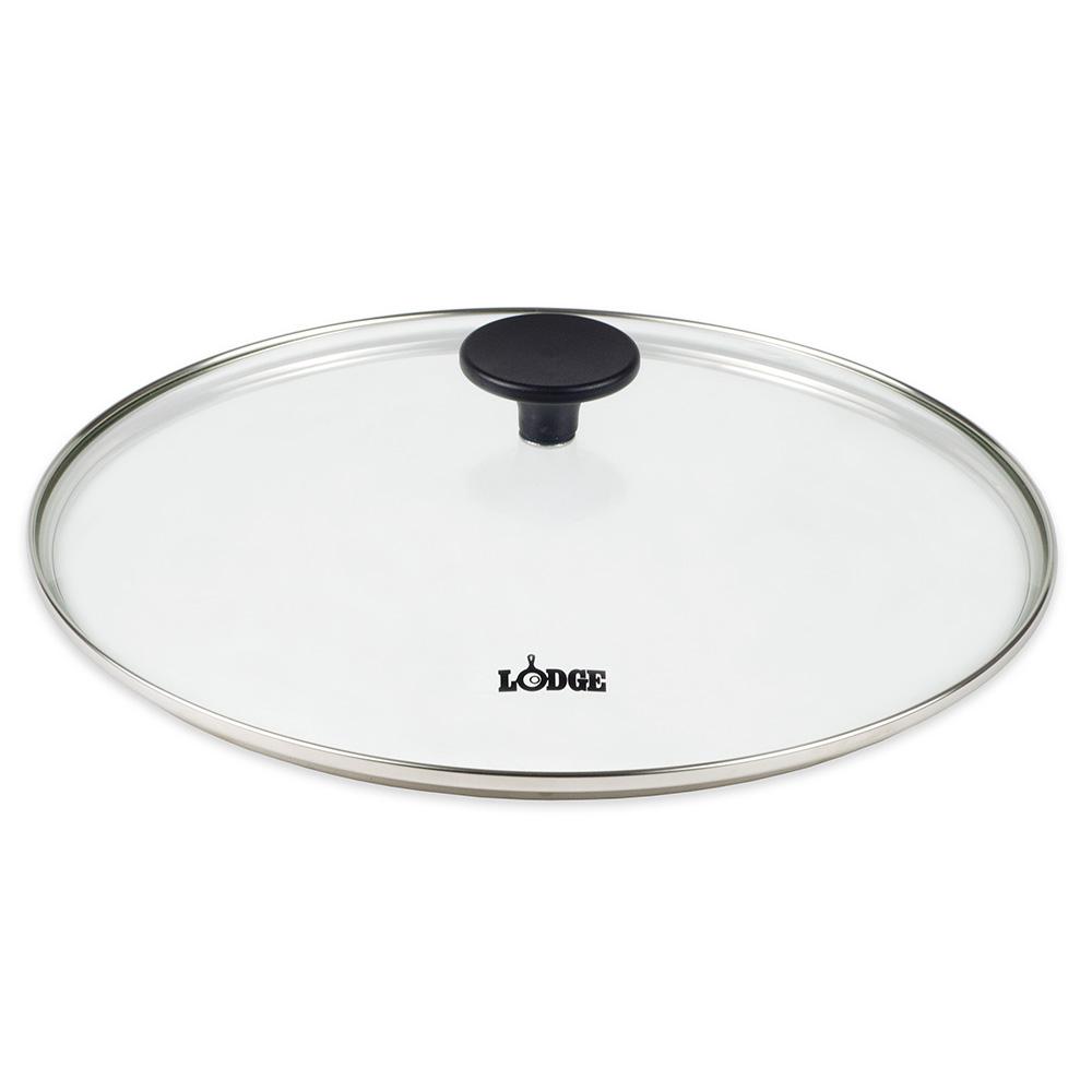 "Lodge GC12 12"" Round Lid w/ Tempered Glass & Phenolic Knob"