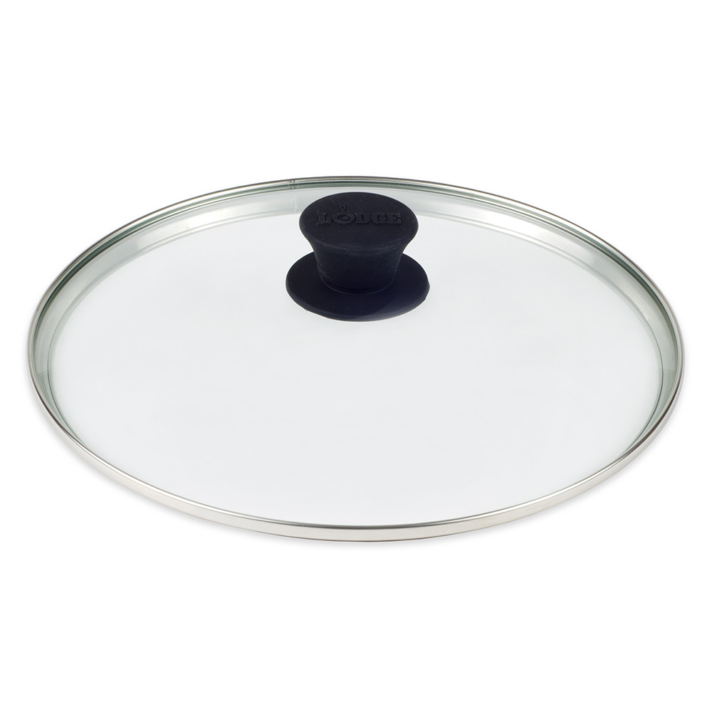 "Lodge GL10 10.25"" Tempered Glass Lid w/ Silicone Knob"