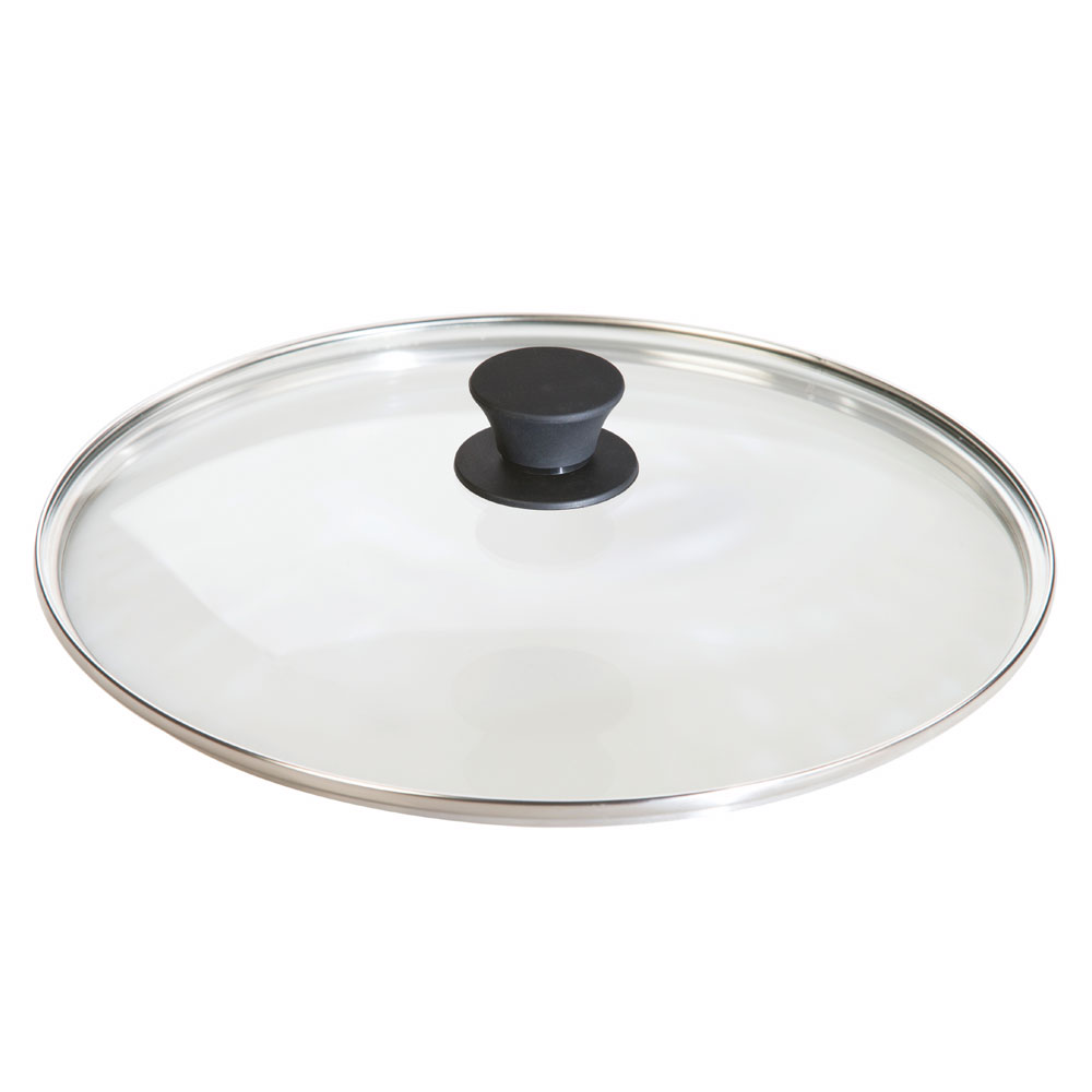 "Lodge GL12 12"" Round Lid w/ Tempered Glass & Phenolic Knob"
