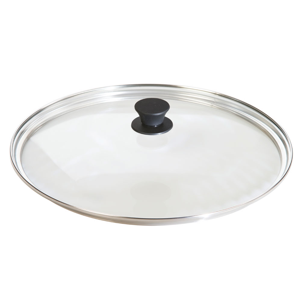 "Lodge GL15 15"" Round Lid w/ Tempered Glass & Phenolic Knob"