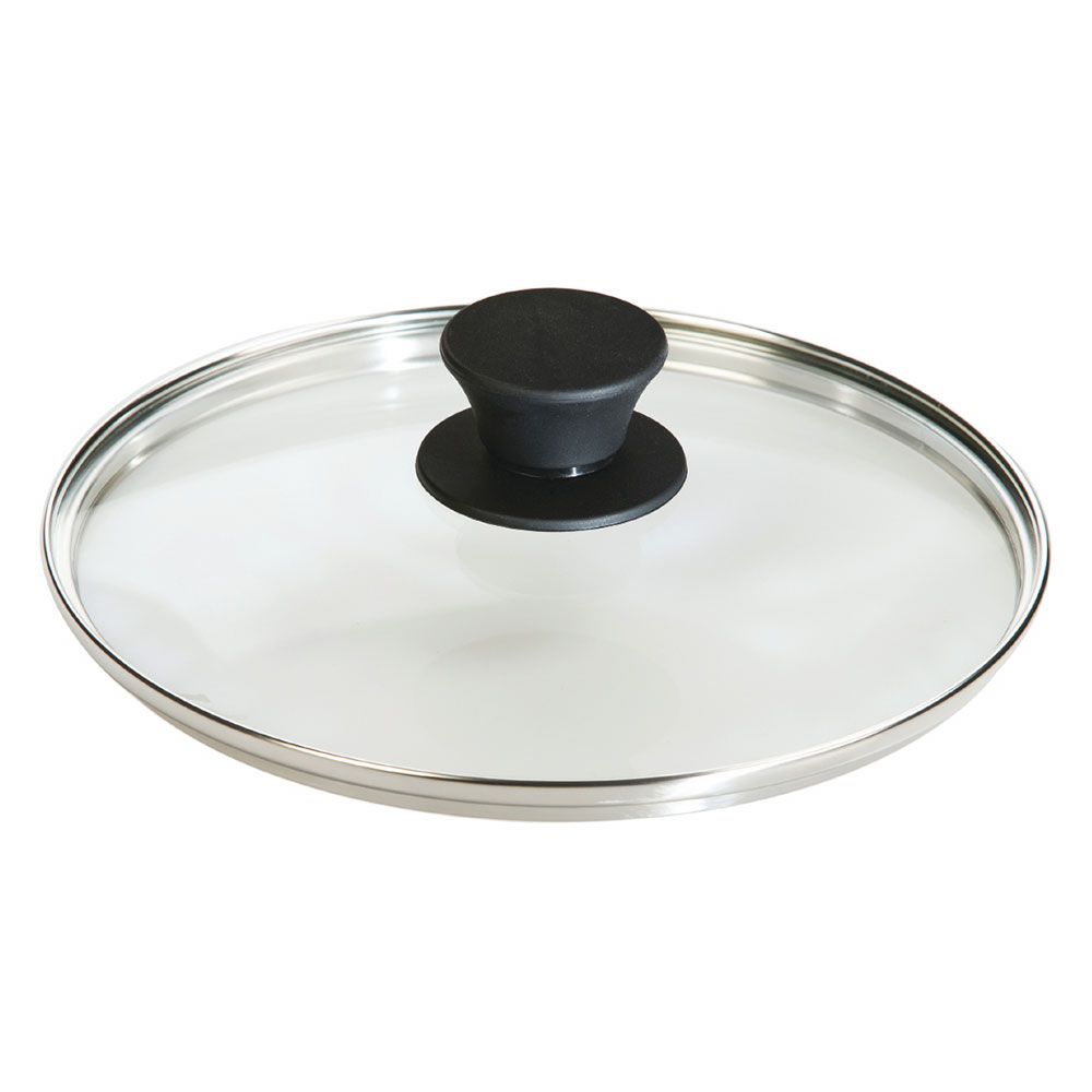 "Lodge GL8 8"" Round Lid w/ Tempered Glass & Silicone Knob"