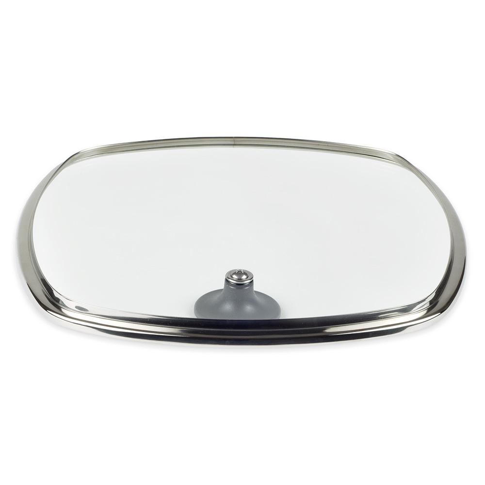 "Lodge GCSQ10 10.5"" Square Cover w/ Phenolic Handle & Tempered Glass"