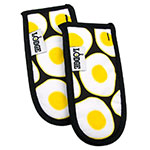 Lodge HHEGG Hot Handle Mitt Set of 2 - Egg Print on Black