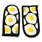Lodge HHEGG Hot Handle Mitt Set of 2 - Egg Print on Black