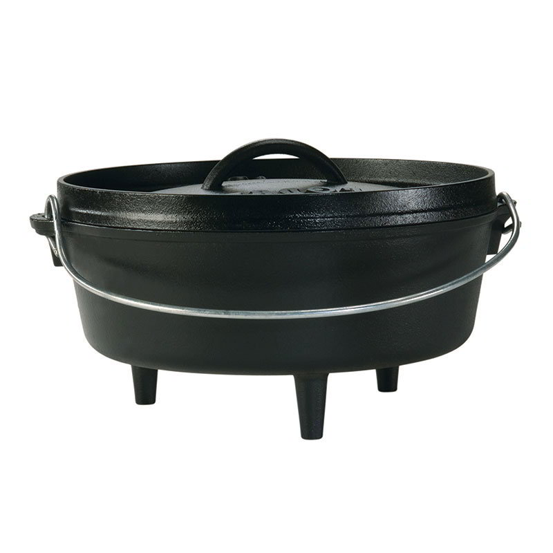 "Lodge L10CO3 10"" Round Cast Iron Dutch Oven with Lid"