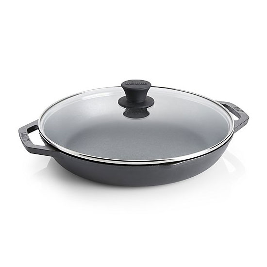 "Lodge L10CPGL 12"" Round Cast Iron Everyday Pan w/ Handles"
