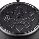 "Lodge L10SK3BS 12"" Round Cast Iron Skillet w/ Boy Scout Logo on Bottom"