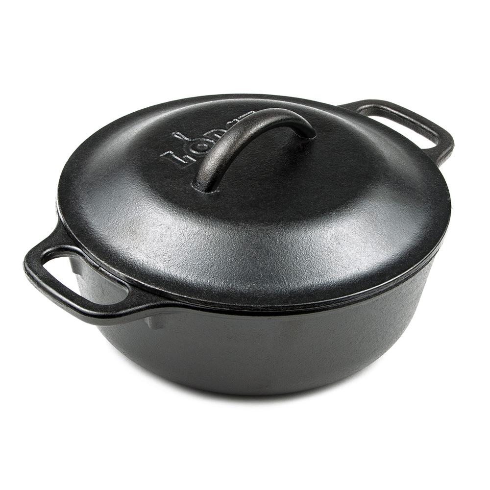 Lodge L2SP3 2-qt Cast Iron Braising Pot