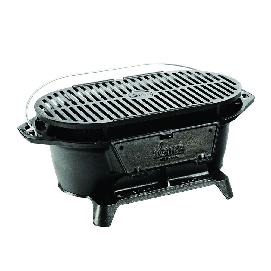 Lodge L410 Hibachi Style Cast Iron Sportsmans Grill