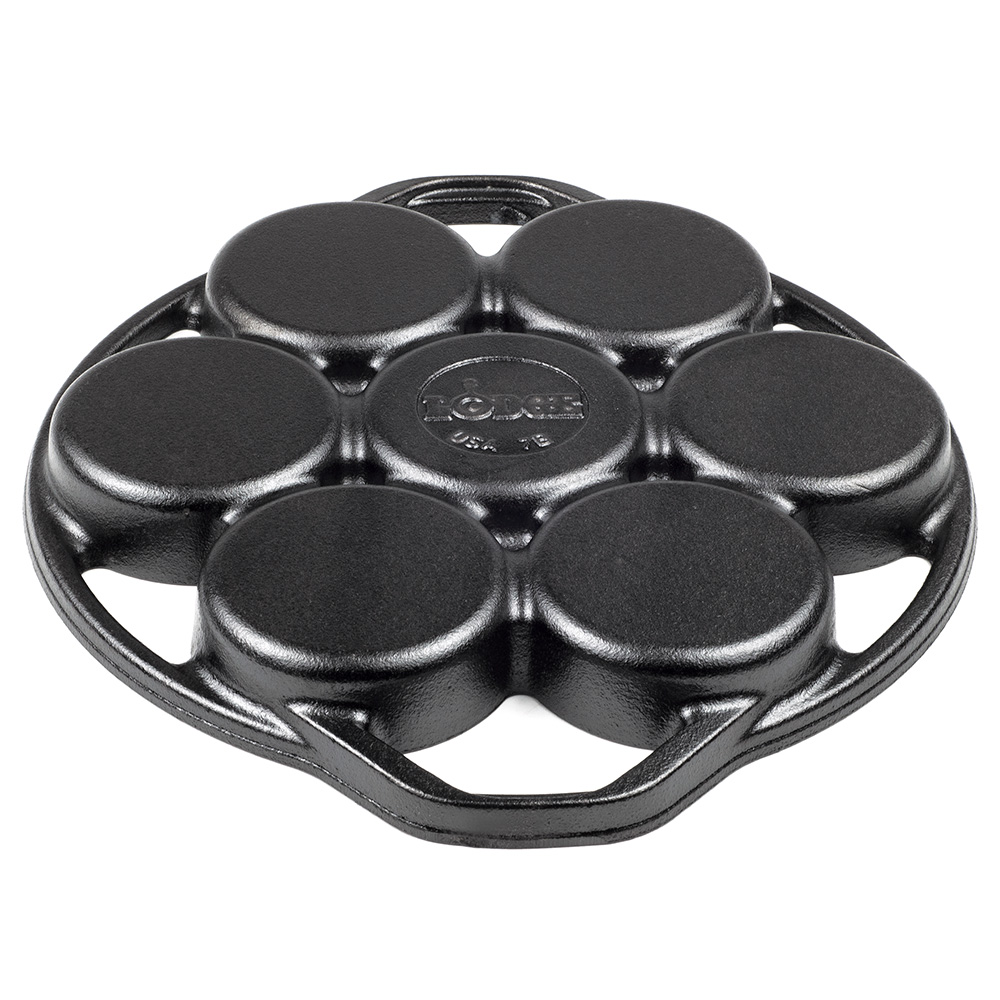 Lodge L7B3 Cast Iron Drop Biscuit Pan w/ 7-Biscuit Capacity